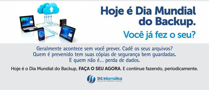 Hoje é Dia Mundial do Backup