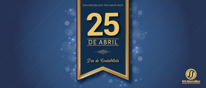 25 de Abril – Dia do Contabilista